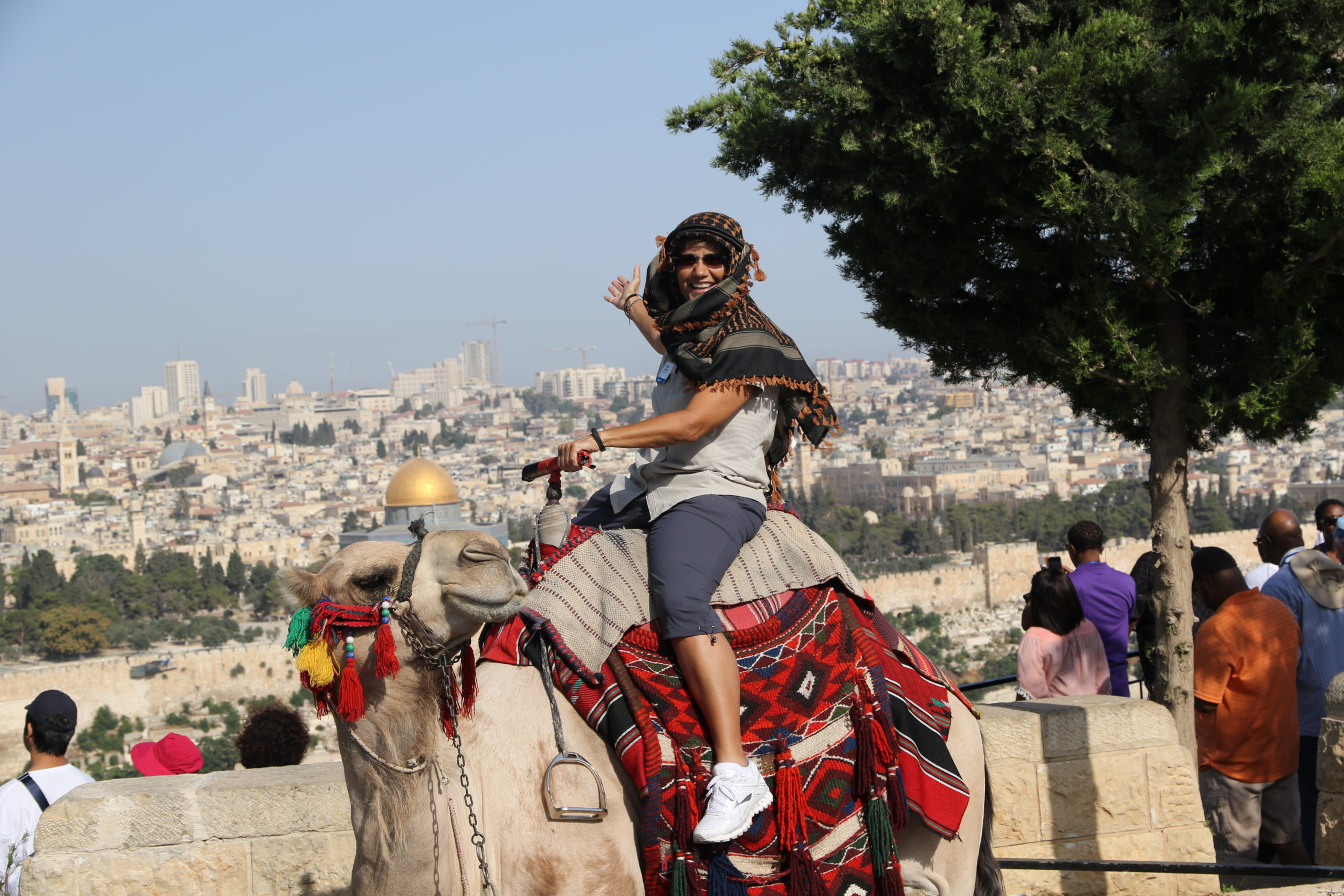 What a way to tour Jerusalem